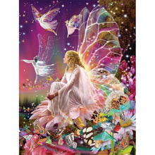 NEW 5D DIY Diamond Painting Cartoon Cross Stitch Full  Embroidery butterfly elves Pattern  Mosaic Needlework finetime 5d diy diamond cartoon cross embroidery diamond embroidery butterfly elf pattern diamond mosaic needlework