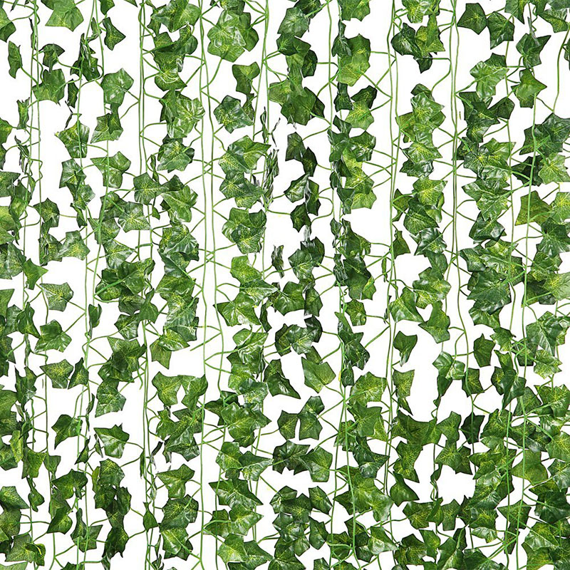 Artificial Leaves Fake Leaves Garland String Leaf Ivy Vine Jungle Birthday Party Backdrops Home Wedding Decoration Artificial Plants Aliexpress