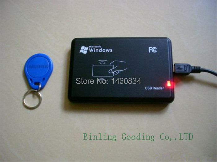 Free Shipping 125kHZ RFID Reader USB Proximity Sensor Smart Card Reader+2Pcs 125khz RFID EM4100 Keyfobs free shipping 125khz rfid reader usb proximity sensor smart card reader 2pcs 125khz rfid em4100 keyfobs