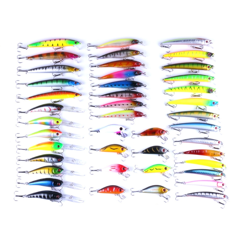OOTDTY 43pcs Mixed Size Model Fishing Lures Crankbaits Hook Minnow Crank Baits Tackle fishing lures 2017 43x set mixed models 43 clolor mix minnow lure crank bait tackle s baits pesca fishing accessories