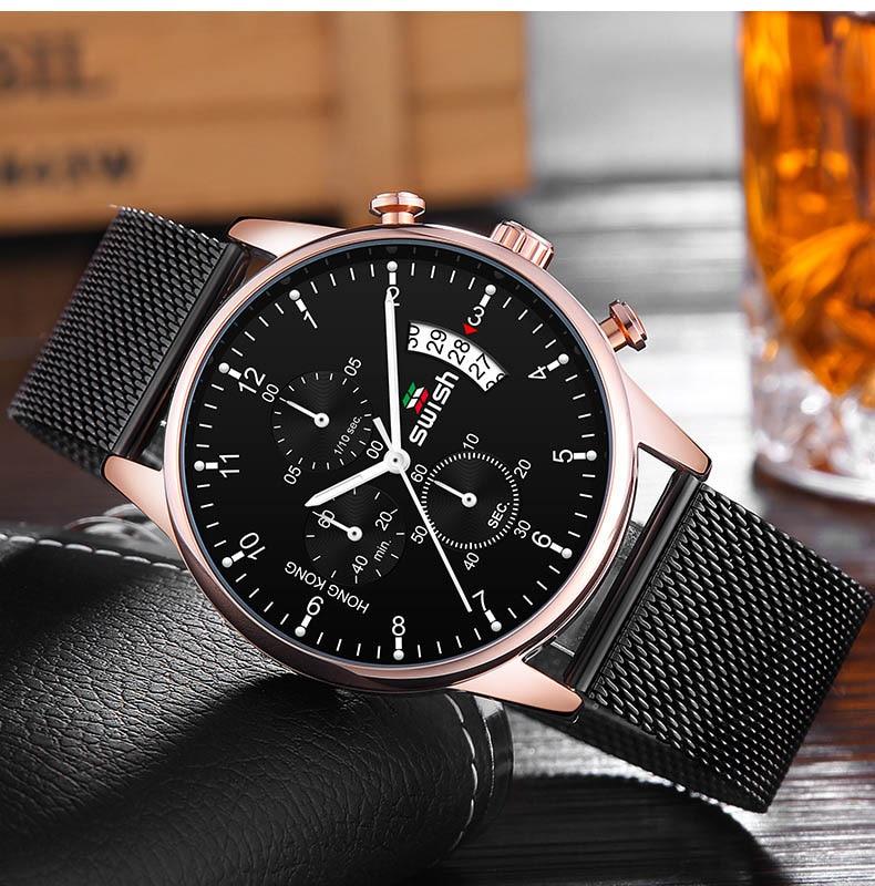 HTB1jlXeUMHqK1RjSZFgq6y7JXXaD SWISH 2019 Top Brand Luxury Mens Watches Waterproof Stainless Steel Wristwatch Mens Chronograph Casual Quartz Watch