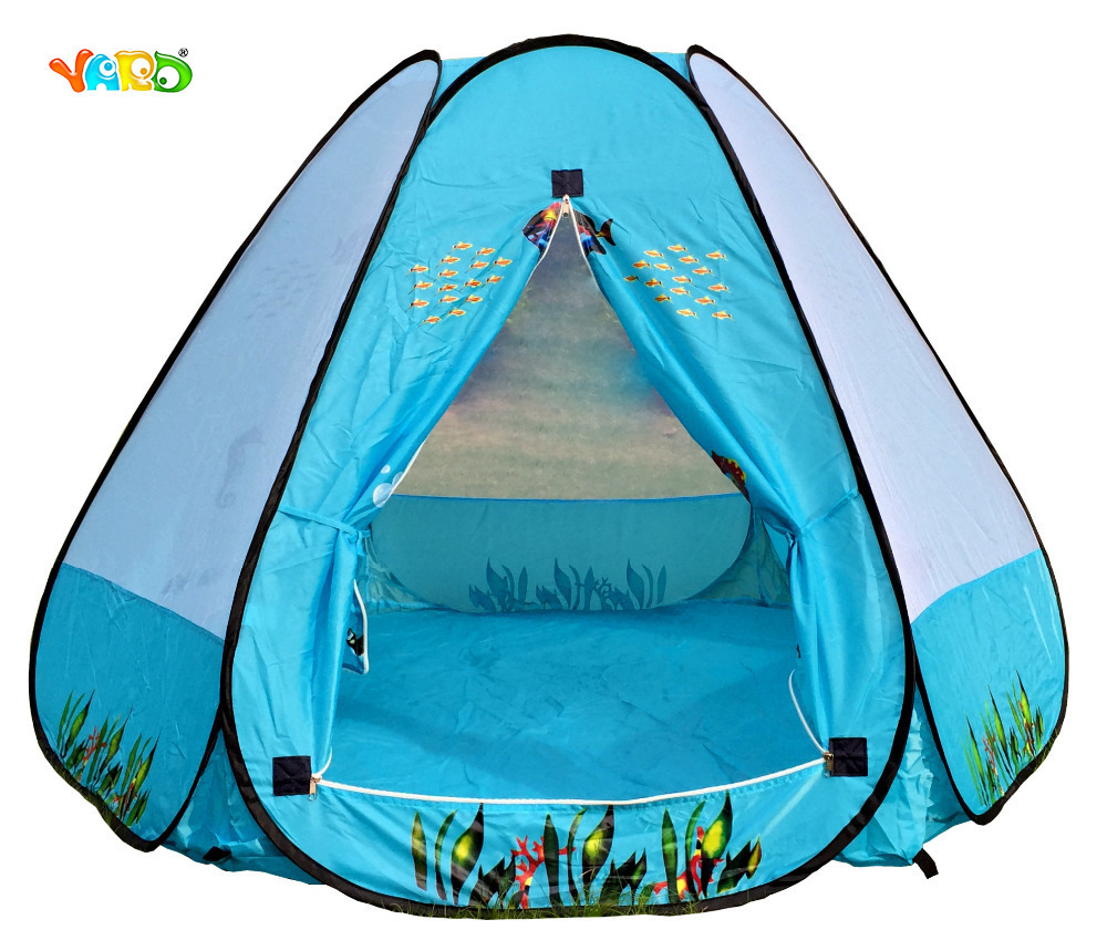 Sea World Kids Tent Cartoon Playhouse Baby Game House Tents Outdoor Indoor 180*156*110CM kids gift quality mushroom child tent 50 ocean balls kids game house 5 5 cm wave balls indoor