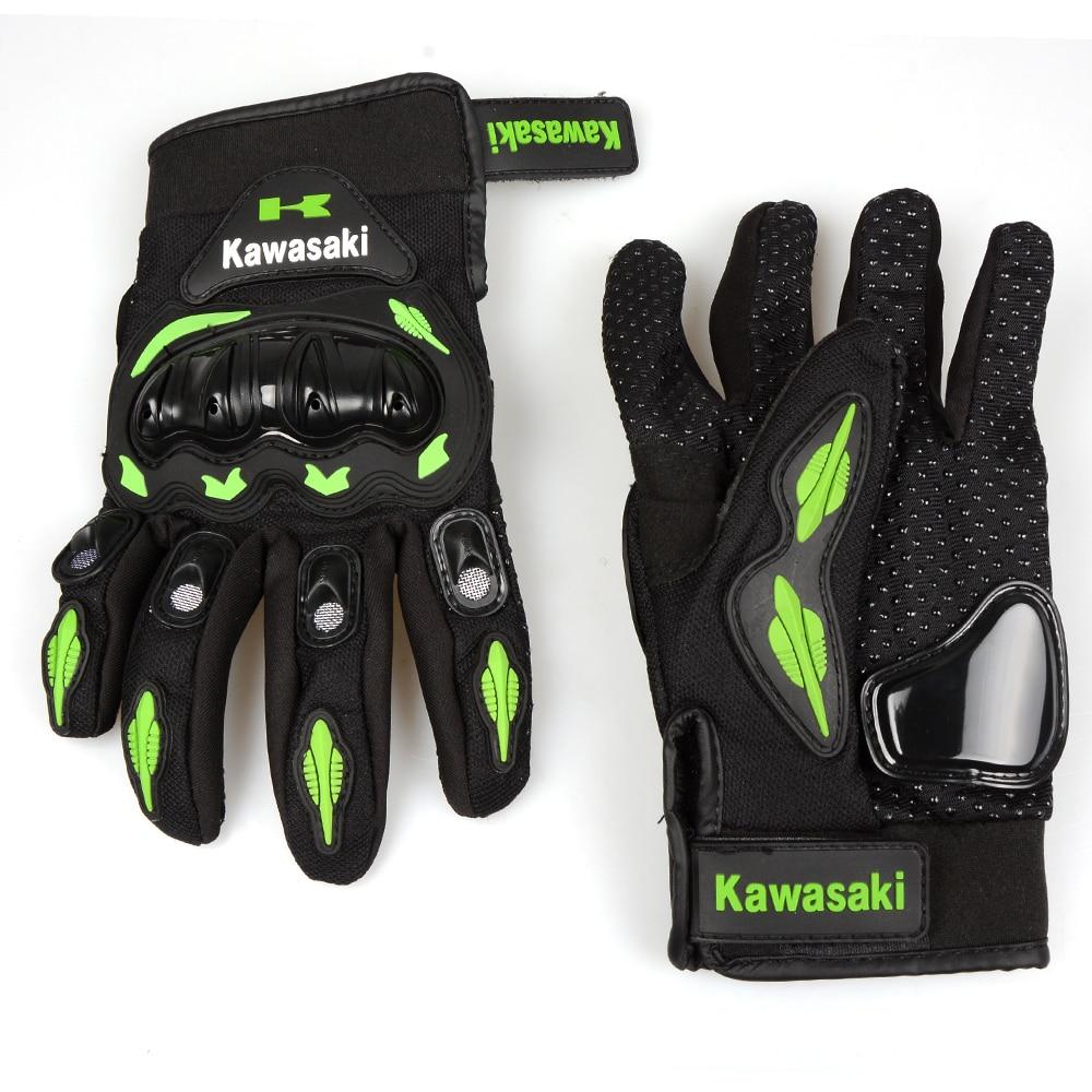 Motorcycle gloves xl - For Free Shipping Motorcycle Gloves Retro Kawasaki Moto Racing Gloves Men S Motocross Full Finger Gloves M