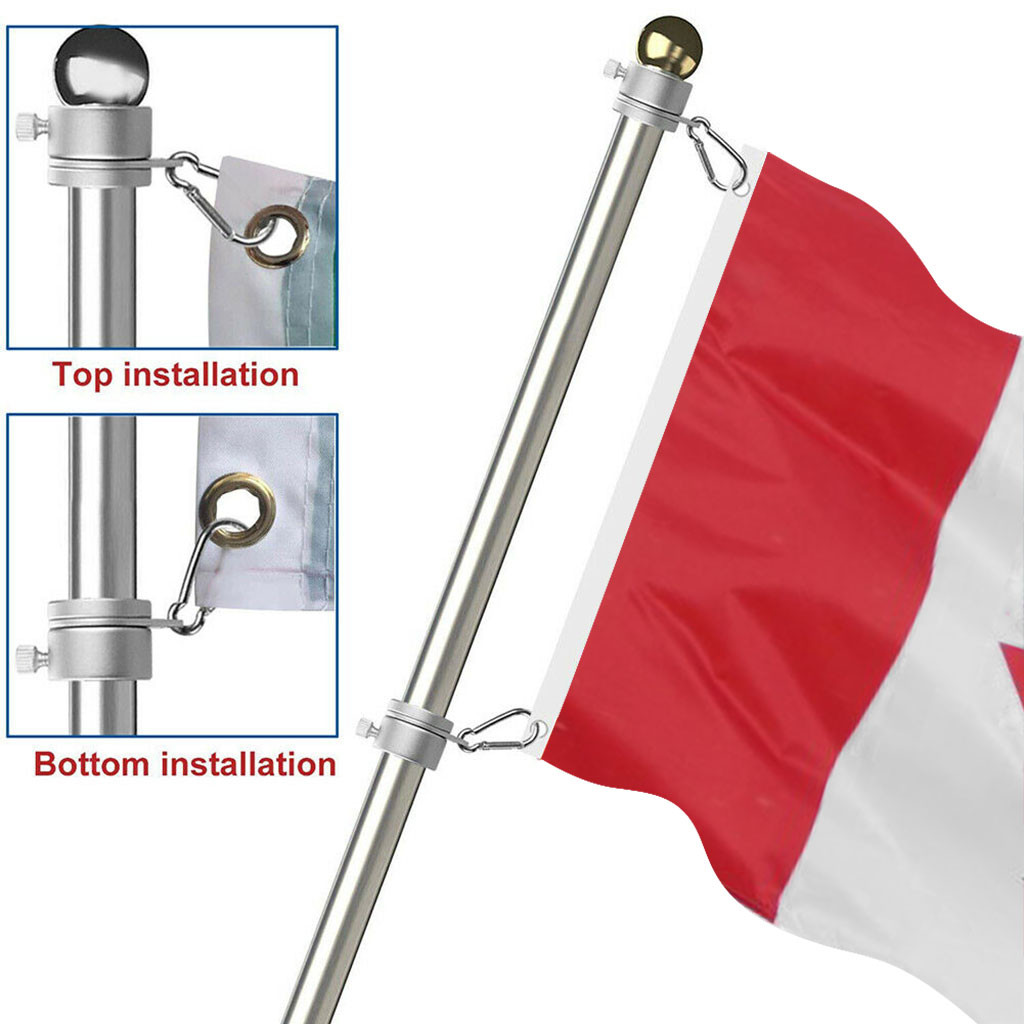 Rings Grommet Clip UK Flagpole Holder Bracket,Wall Mount Metal Flagpole Mount