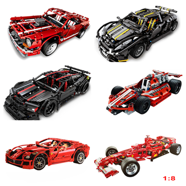 Decool Compatible legoed Technic Car Racer MOC sets model building kits blocks DIY kids toys for children bricks muscle supercar