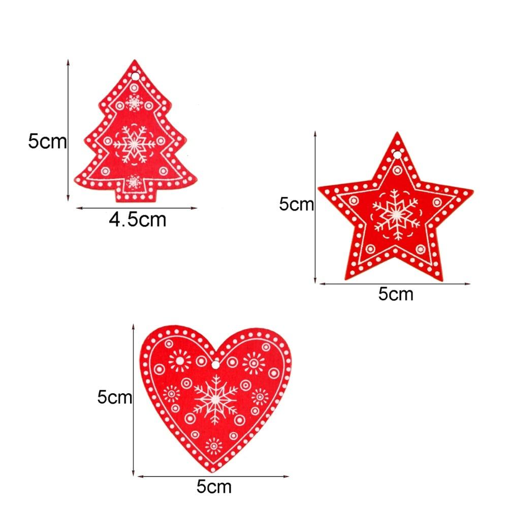LAPHIL 20pcs Snowflake Christmas Wooden Pendants Ornaments Merry ...