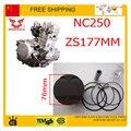 Nc250 pistón pin anillo fijó kit de pistón zongshen motor XZ250R T6 xmotos apollo KAYO eeb 250cc 4 valves partes