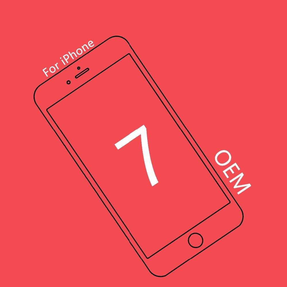 1 pcs De Qualité OEM Pour iPhone 7 LCD Assemblage 4.7 pouce Écran Remplacement Lentille Pantalla Écran Tactile Numériseur