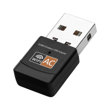 600 mb/s Adapter USB WiFi dwuzakresowy sieci Adapter Wifi Dongle Usb Wifi 2.4GHz / 5.0GHz Ethernet 802.11AC na pulpicie laptopa