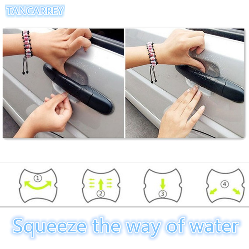 Car door handle sticker protection film. for AUDI a1 a3 a4L a4 a5 a6 b8 c5 c6 b7 a6L a7 a8L S5 S a8 S8 Q3 Q5 Q7 SQ5 Q1 TT TTS