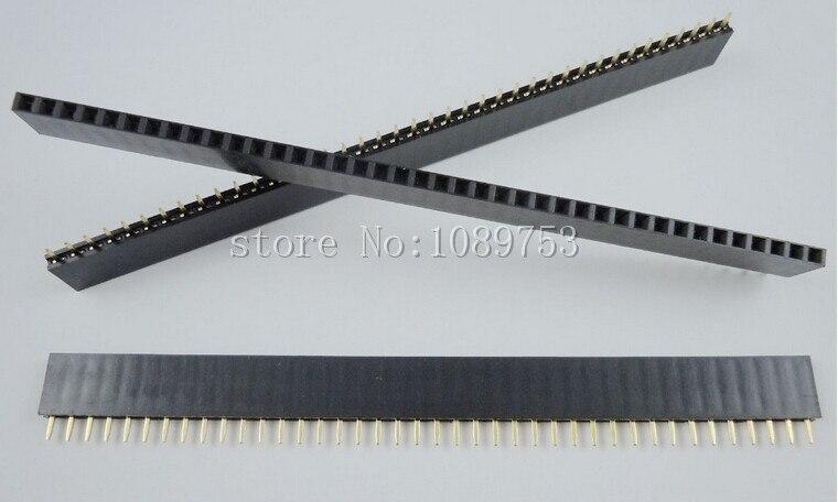 50PCS 40Pin 2.54mm Single Row Straight Female Pin Header Strip PBC niko 50pcs chrome single coil pickup screws
