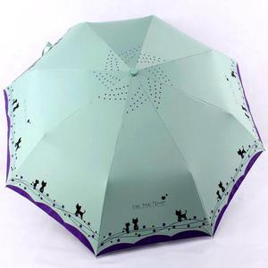 Image 5 - الزهور والقط مظلة المطر النساء يندبروف خفيفة الشمس المطر التلقائي مظلات قابلة للطي سيدة مظلة المظلة