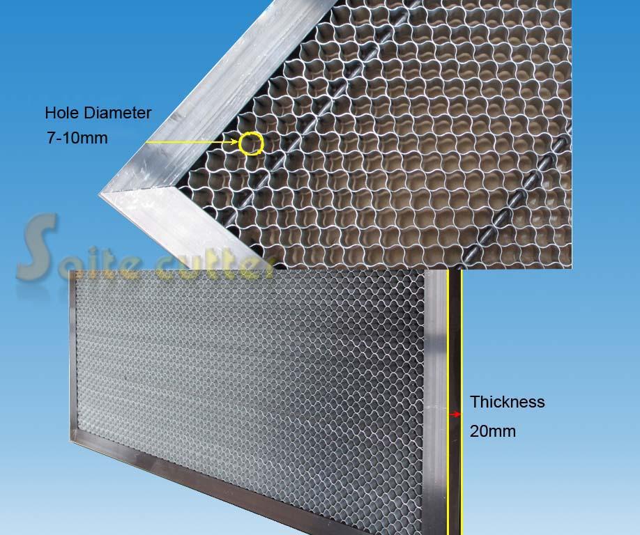 Stół roboczy o strukturze plastra miodu CO2 50 60W Rurowa maszyna do grawerowania laserowego 500x300 mm