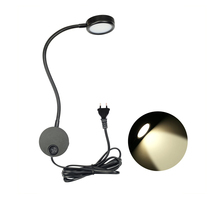 цена на Flexible LED Wall Lamp,3W Gooseneck Wall Mount Sconce Reading Light with Switch and Plug in Cord for Indoor Bedroom Living Room