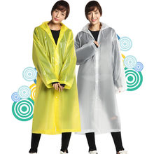 Outdoor Raincoat Portable Rain Poncho Adult Non-disposable Transparent Hoodie EVA Waterproof Raincoats(China)