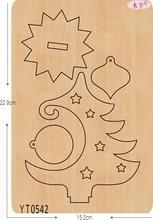 עץ חג המולד 6 DIY חדש עץ עובש חיתוך מת לרעיונות עובי/15.8mm/YT0542