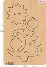 Christmas tree 6 DIY new wooden mould cutting dies for scrapbooking Thickness/15.8mm/YT0542