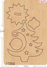 Kerstboom 6 Diy Nieuwe Houten Schimmel Stansmessen Voor Scrapbooking Dikte/15.8Mm/YT0542