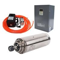 380 v 5.5Kw 5500 W 125mm moteur de broche ER25 + 5.5kw onduleur VFD + 75 W kits de pompe à eau 24000 tr/min gravure sur CNC