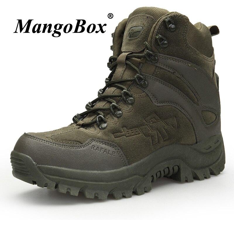 New Cool Tactical Men Boots Original Military Ankle Boots Men Autumn Winter Men Outdoor Footwear Brown Green Work Security Boots mulinsen new 2017 autumn winter men