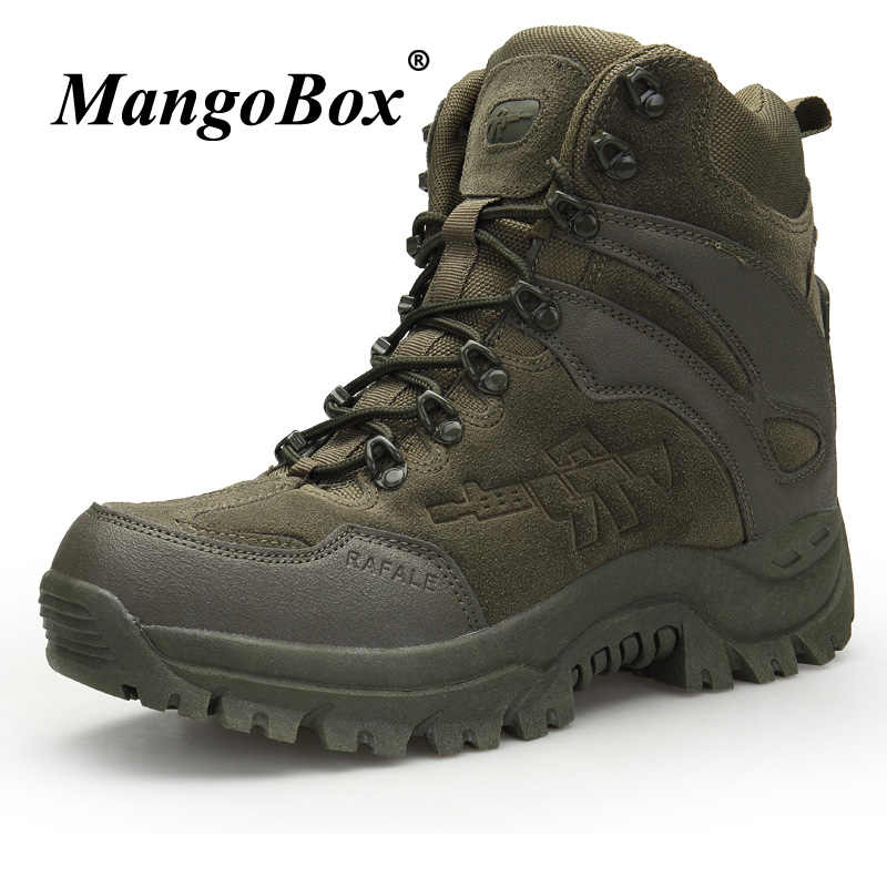 d37c94dd835 New Cool Tactical Men Boots Original Military Ankle Boots Men Autumn Winter  Men Outdoor Footwear Brown Green Work Security Boots