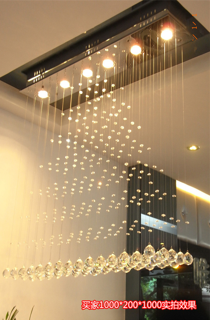 Modern square crystal chandelier rotating stainless steel led modern square crystal chandelier rotating stainless steel led chandeliers bedroom lamps living room restaurant chandeliers in pendant lights from lights arubaitofo Image collections