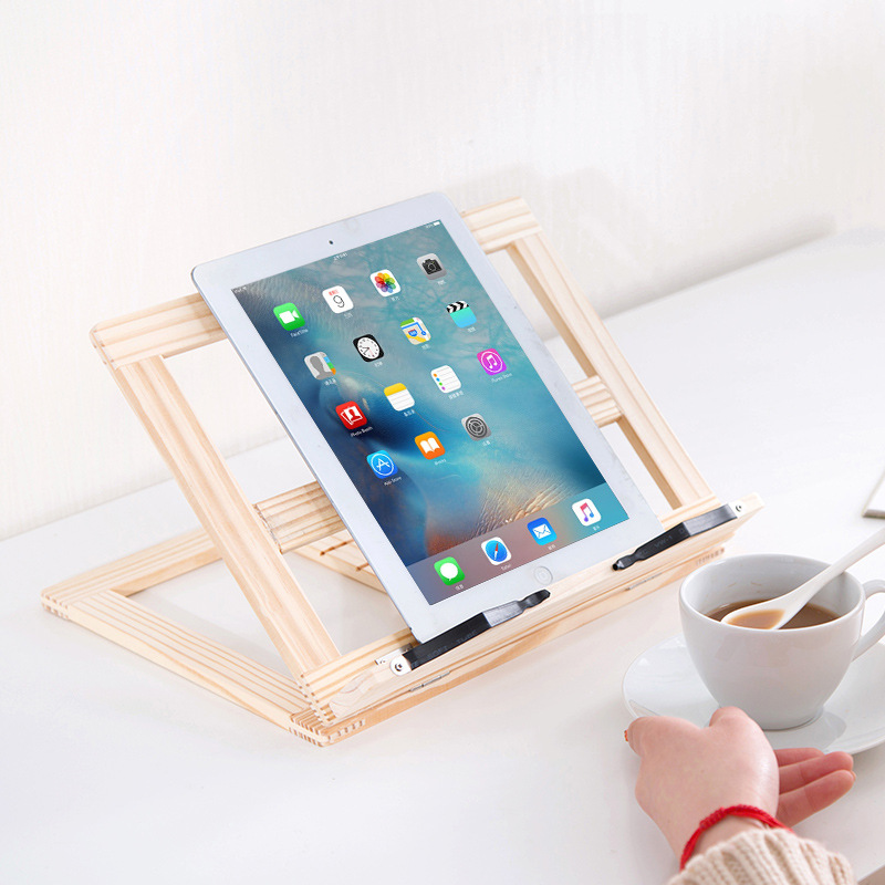 Free Shipping Multi Use Foldable Natural Wood Stand for iPad ...