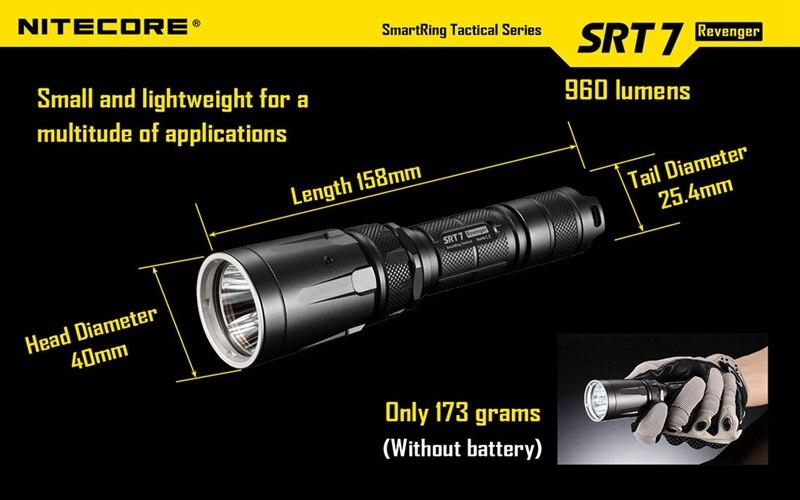 Nitecore SRT7 960LM 3 načina rada Vodootporna taktička svjetiljka - Prijenosna rasvjeta