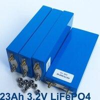 2pcs 3.2v LiFePO4 rechargeable battery 23Ah cell for 12V 24v 36v battery pack e-bike UPS Power convertor HID solar light