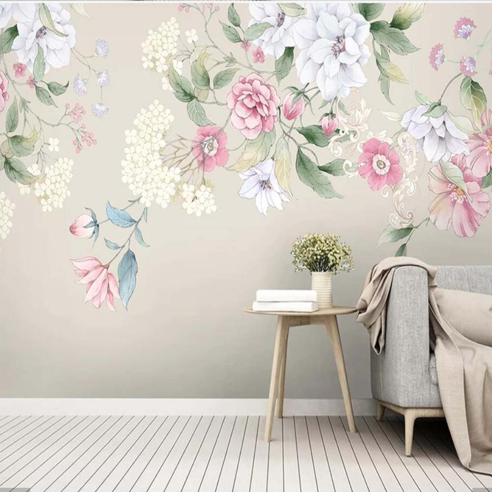 3d Watercolor Flower Wallpaper Mural Art Wall Decals Hd Printed