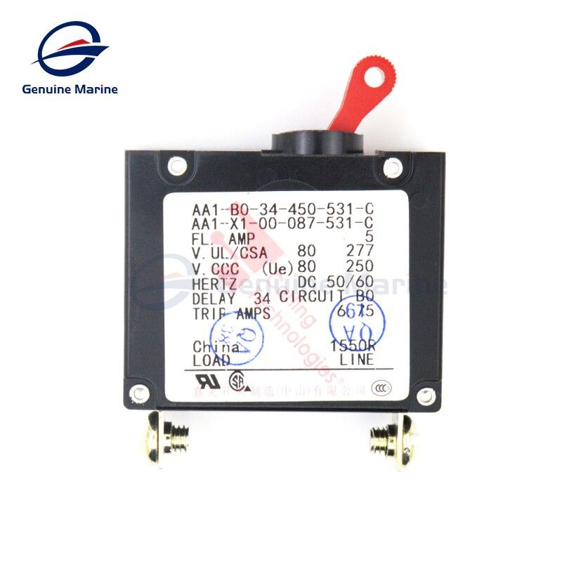 US $18 99  Rocker type single pole bipolar electromagnetic circuit breaker  marine RV car interior parts Genuine Marine-in Marine Hardware from