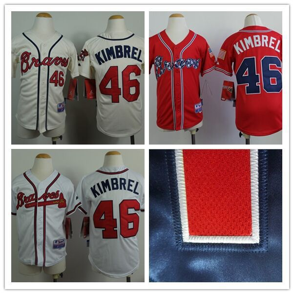 new product 8cebc 2dda7 46 craig kimbrel jersey youth kids baseball jersey custom ...