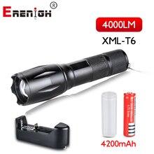 Светодиодный фонарик с перезаряжаемой батареей 18650, XML T6, 4000 люмен, 5 режимов, портативное освещение для кемпинга, походов