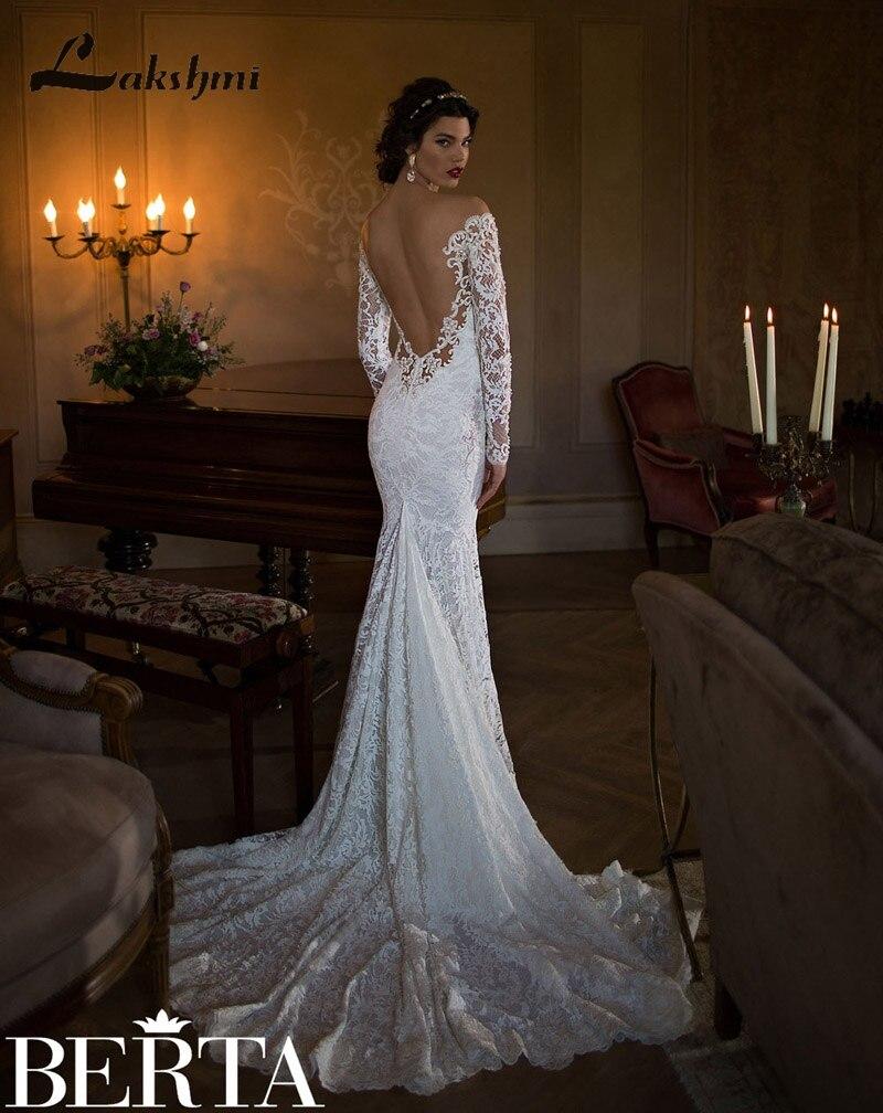 Aliexpress.com : Buy Gorgeous Lace Mermaid Berta Wedding Dresses ...