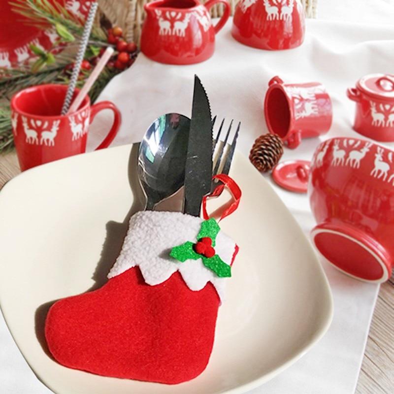 Christmas Stocking Silverware Holders