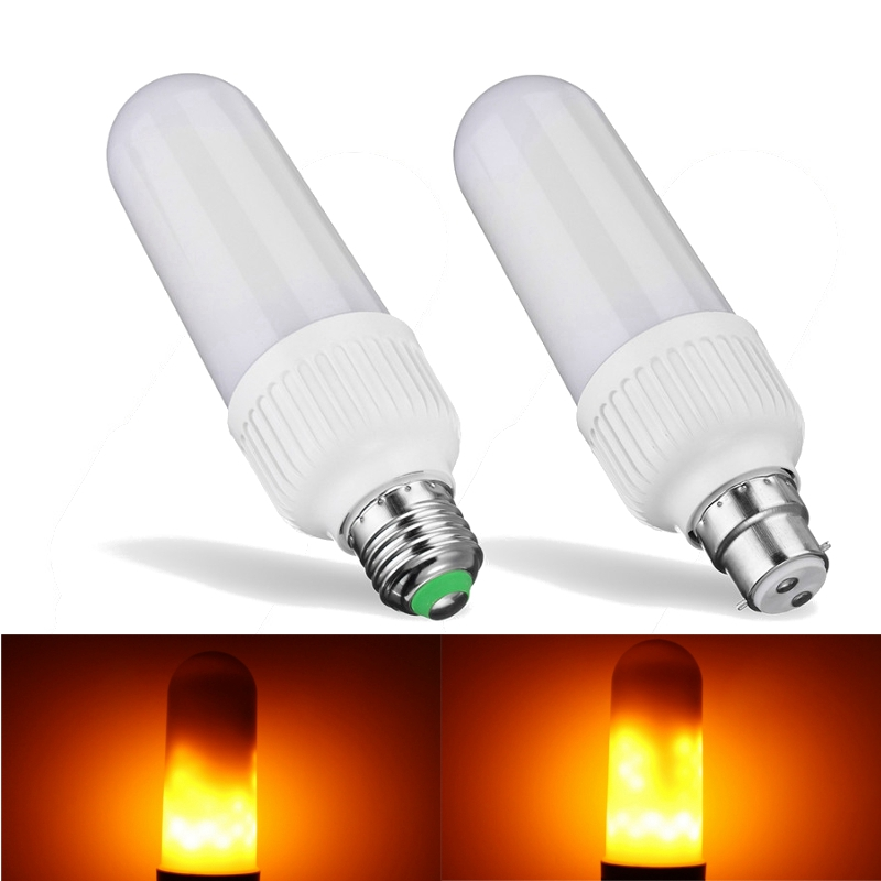 Best Promotion 5W 2835 SMD LED Lamp Bulb E27 B22 1800K Yellow Flickering Flame Fire LED Light Bulb Corn Light Bulb AC85-265V flaming fire e27 led corn bulb warm white 3 5w smd3528 99leds ac85 265v 300lm bombillas led for frosted lampshade lighting