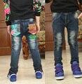 O envio gratuito de 2017 novos meninos de roupas infantis calças compridas versão Coreana outono e inverno crianças calças de brim