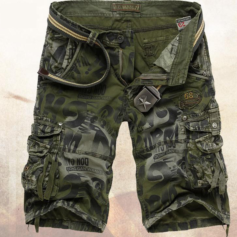 HOT 2019 Summer Tooling shorts male hip-hop cotton loose camouflage Multi-pocket beach bermuda masculina Casual Shorts