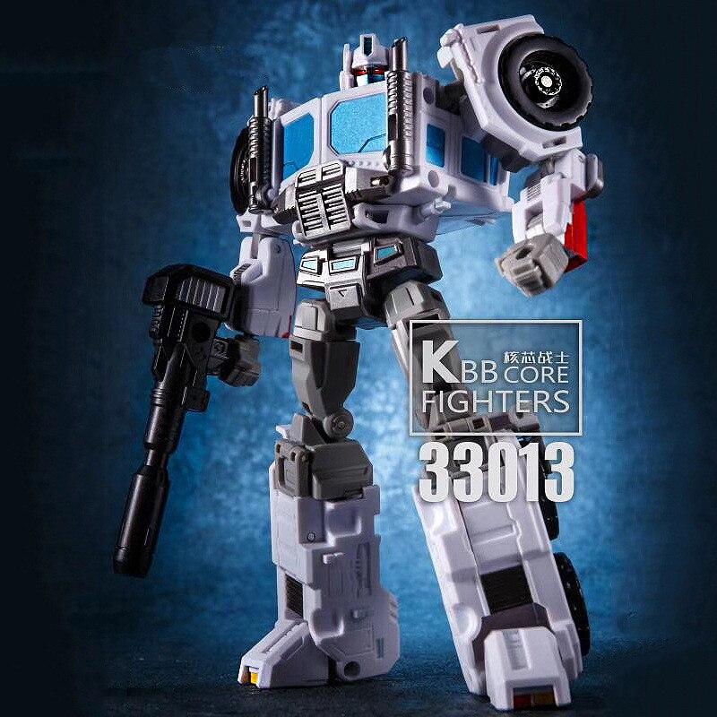 Lensple Kbb Transformatie G1 Ultra Magnus PC-17 Idw Core Warrior Wit Commander Op Action Figure Robot Speelgoed Model Gift