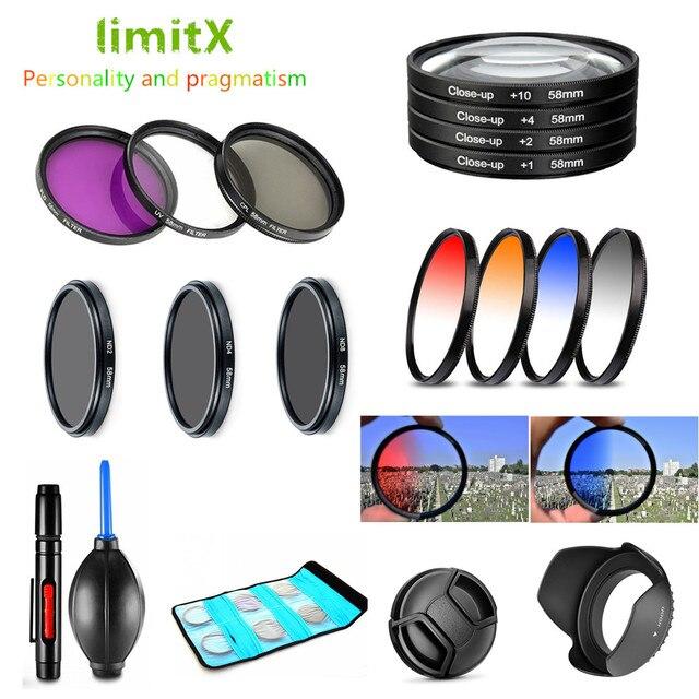 37mm UV CPL ND FLD mezun yakın filtre ve Lens Hood Cap Olympus E PL10 E PL9 E PL8 E PL7 e PL6 14 42mm Lens kamera