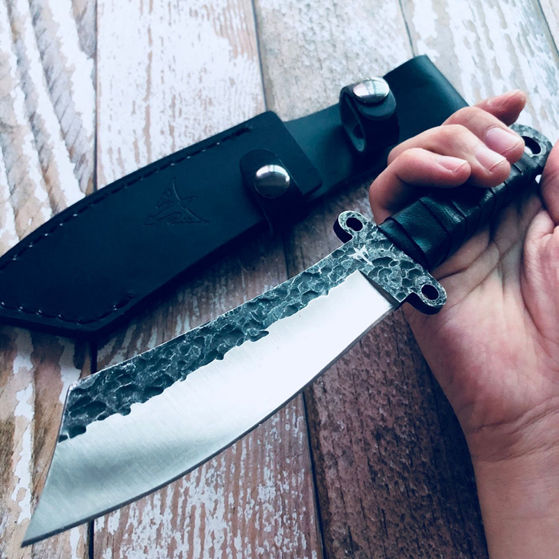 Outdoor Handmade Very Sharp Army Hunting Knifes High Hardness Fixed Blade Tactical Survival Gear Straight Knife Camping Knives