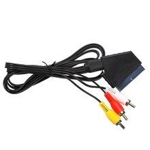 Nowy kabel 1.8m RGB Scart do 3 RCA audio wideo kabel do konsoli nintendo NES wysokiej jakości