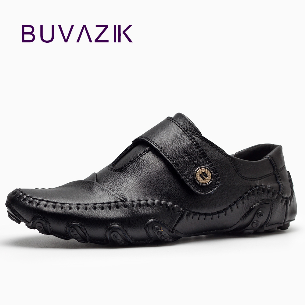 New design 2018 casual shoes men fashion leather men's shoes Spring basic Comfortable driving large size shoes 2017 new spring imported leather men s shoes white eather shoes breathable sneaker fashion men casual shoes