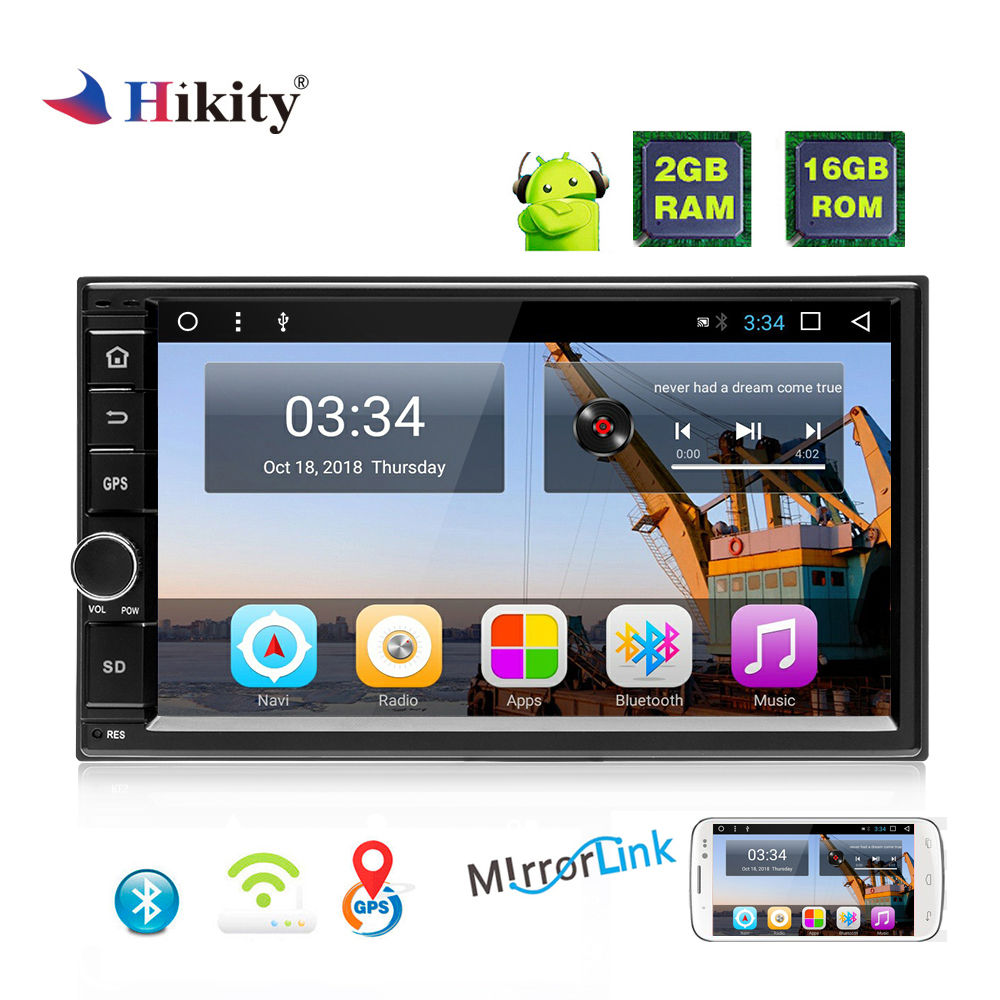 Hikity 2 din Car Radio Android GPS Car Multimedia MP5 Player 7 Touch Screen IOS Android