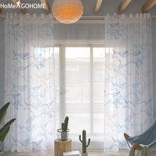 Anime Unicorn 3D Print Tulle Curtains Kids Bedroom White Sheer for Living Room Luxury Modern Window Screen Nordic Style