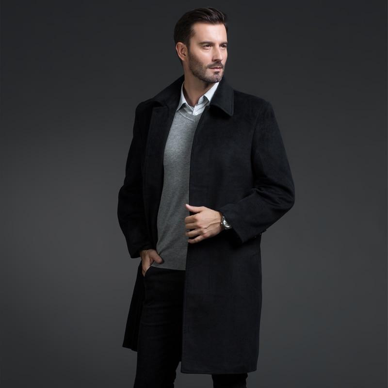 2016 Winter Neuen Stil Männer Freizeit Modegeschäft Verdickung Trenchcoat Männer Wolle Jacken, Einreiher Graben Mantel