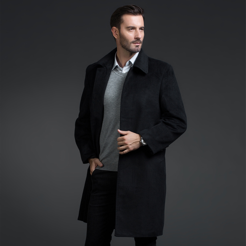 2016 winter new style Men's leisure fashion business thickening trench coat  Men's wool jackets,single breasted trench coat