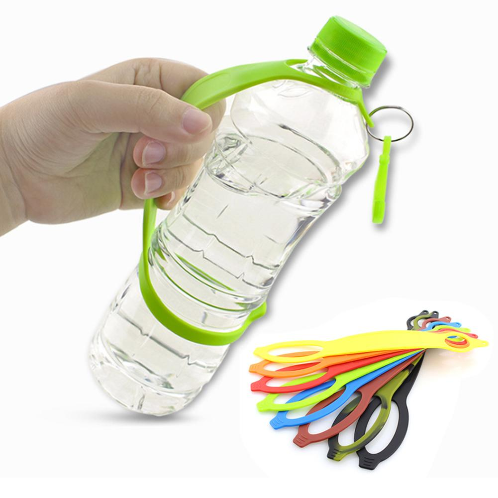 NEW Outdoor Camping Hiking Silicone Water Bottle Belt Holder Safety Buckle Band