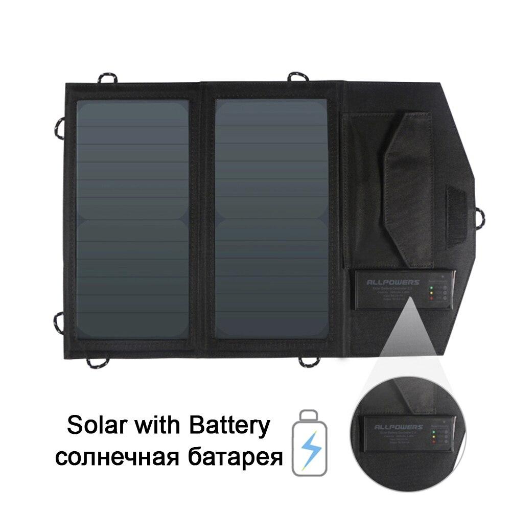 Nouveauté chargeur de panneau solaire Portable pliable batterie li-polymère intégrée avec sortie USB pour iPhone Samsung Huawei Xiaomi.