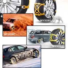 Snow Chains Universal Car Suit 165-265 mm Tyre Winter Roadway Safety Tire Chains Snow Climbing Mud Ground Anti Slip
